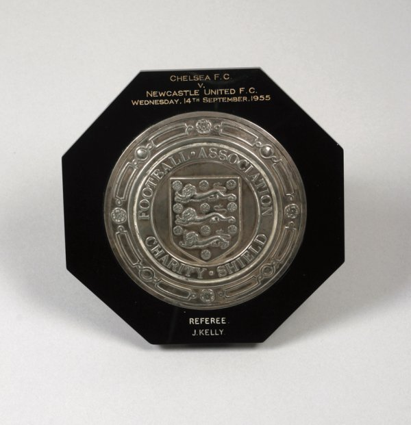428: A silver miniature of the F.A. Charity Shield pres