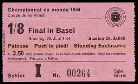 636: An 1/8th final World Cup ticket stub for the famou