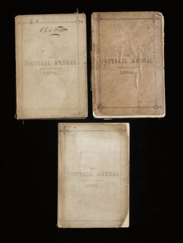 920: The Football Annual, three editions, for 1874, 188