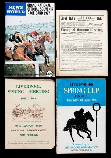 A collection of 48 Aintree racecards, 6 Grand National
