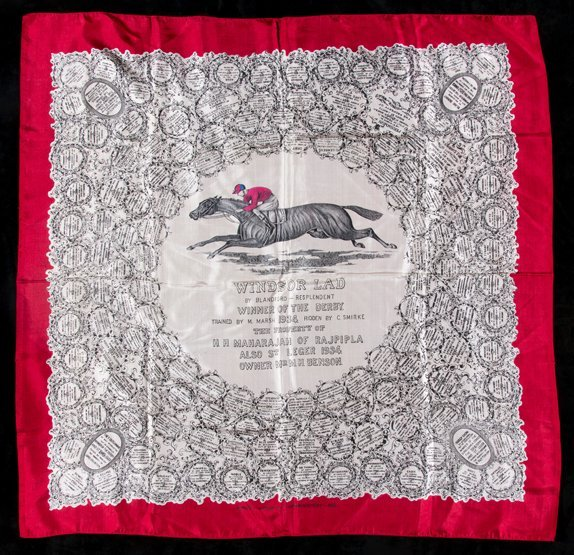 A ladies silk scarf commemorating the victory of the
