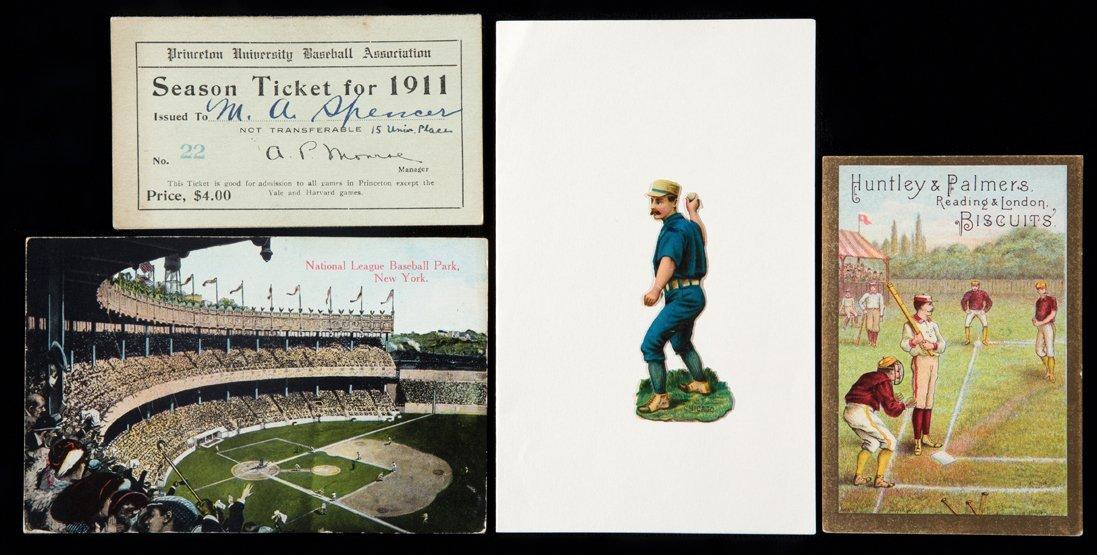 Baseball ephemera circa 1905, postcard of the National