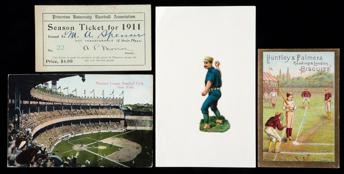 Baseball ephemera circa 1905, postcard of the National