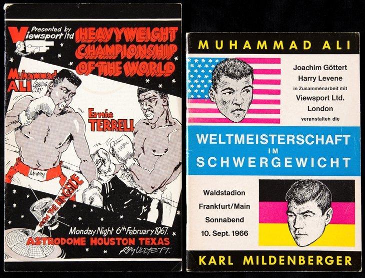 Two Muhammad Ali boxing programmes, v Karl Mildenberger