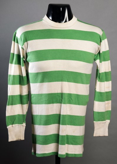 Jimmy Johnstone green & white hooped Celtic jersey