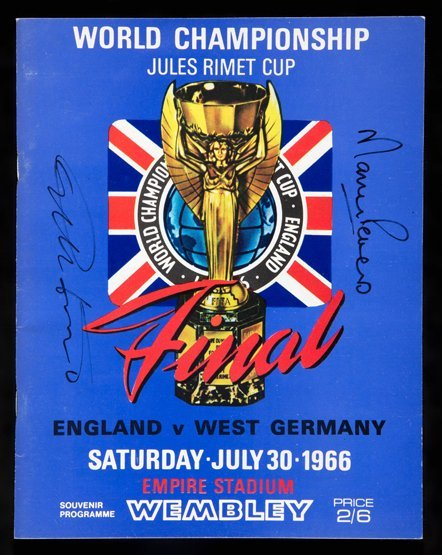 1966 World Cup final programme signed by the England