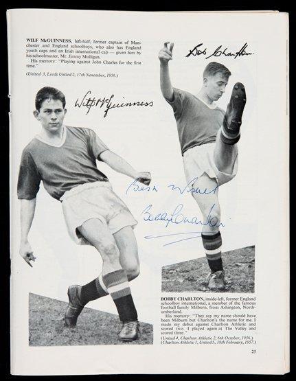 Bobby Charlton  & Matt Busby signed 1957 Manchester