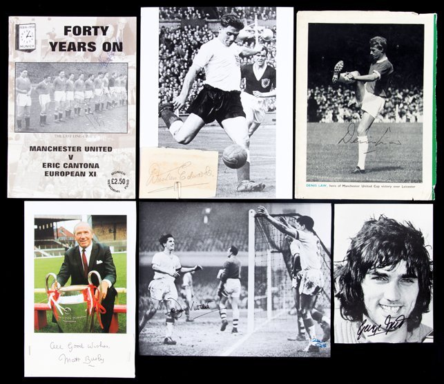 Manchester United photographs, Denis Law signed