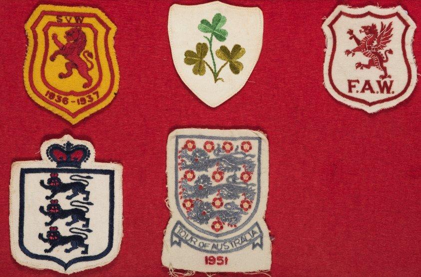 A collection of five international football shirt