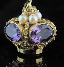 Exceptional 18K Gem Set Crown Jewel