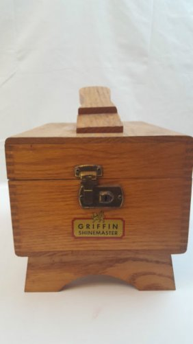 Beautiful Griffen Shine Master Shoe Shine Box Kit
