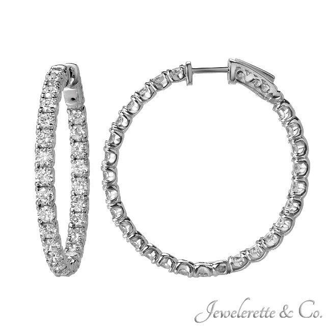 5.20 CTW DIAMOND HINGED HOOP EARRINGS