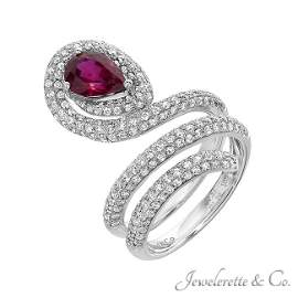 Ruby Snake Ring, GIA Certified