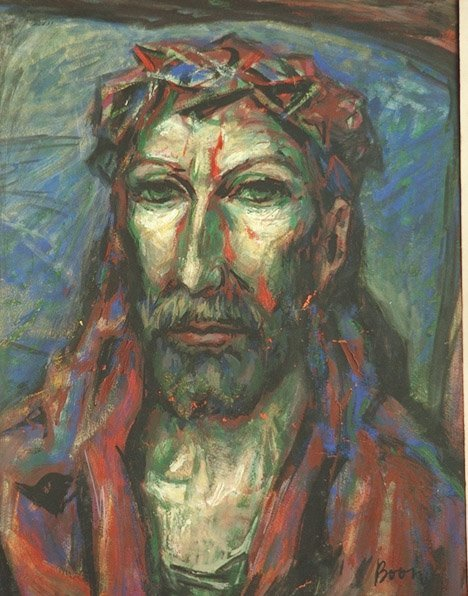 19: Painting CRUCIFIXION by Willem Boon