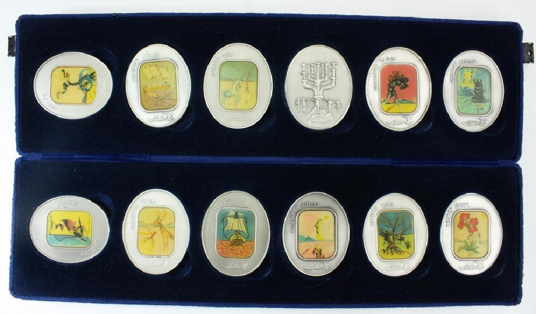 Set of Pure Silver Medals, Salvador Dali, the Twelve