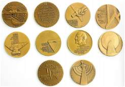Collection of Silver and Bronze Medals of the Israel