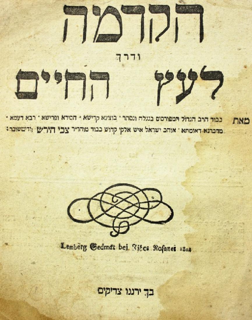 Hakdama Ve'Derech Le'Etz Ha'Chaim, by Rabbi Zvi Hirsch