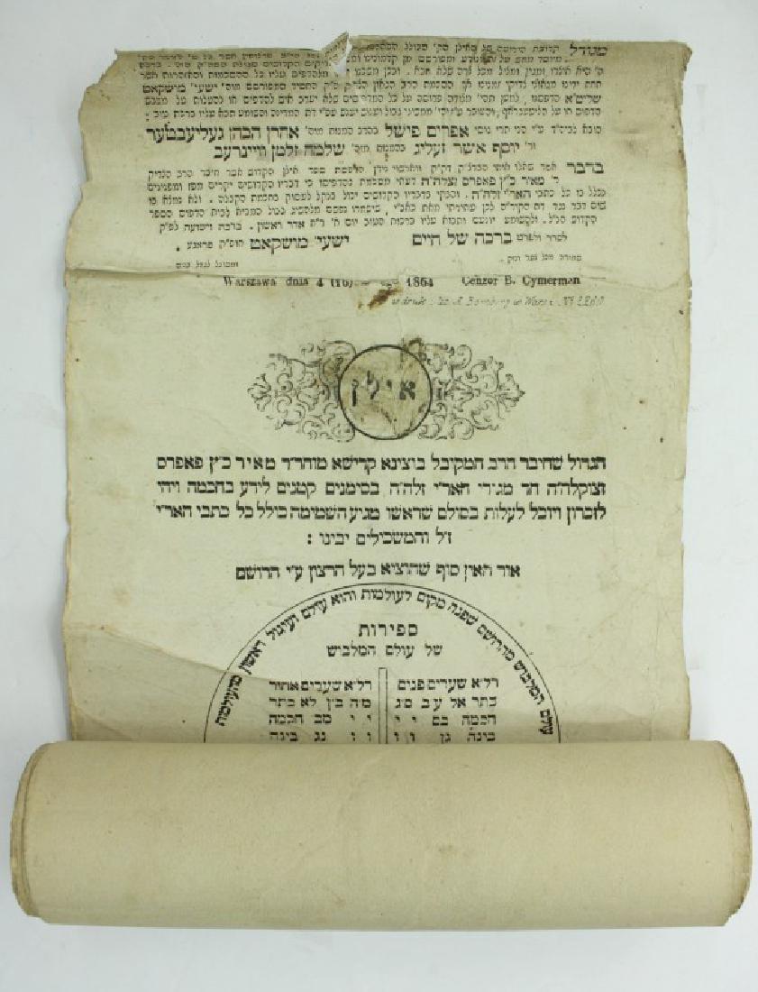 Ha'Ilan Ha'Kadosh ? Paper Scroll Amulet in a Round