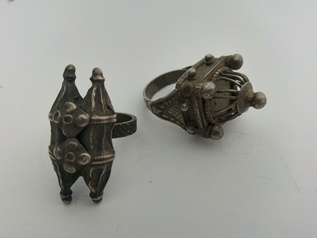 A Pair of Ancient Jewish Rings - Silver - the 19th - 2