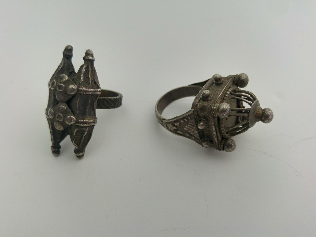 A Pair of Ancient Jewish Rings - Silver - the 19th - 4