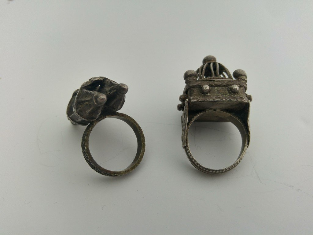 A Pair of Ancient Jewish Rings - Silver - the 19th - 5