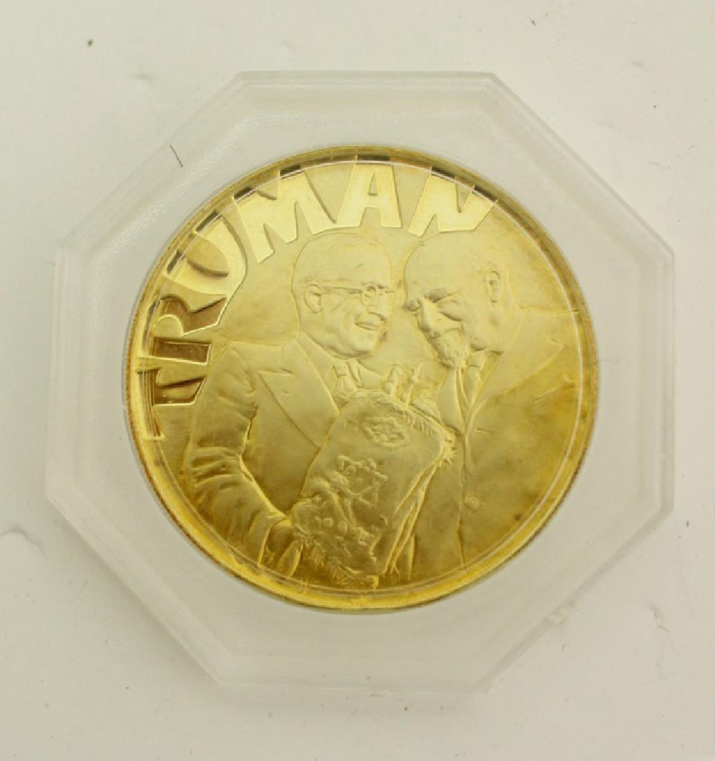 18k Gold Medal - Truman and Weizmann, USA 1973