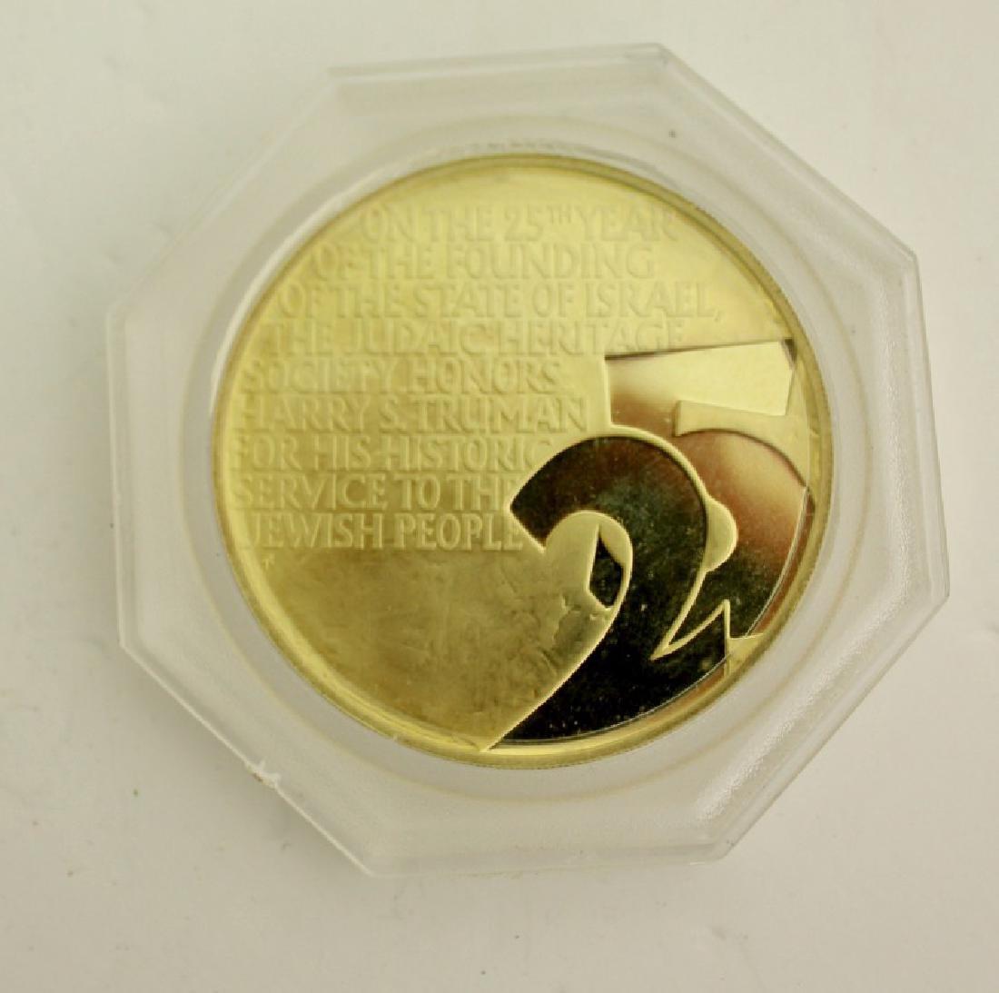 18k Gold Medal - Truman and Weizmann, USA 1973 - 2