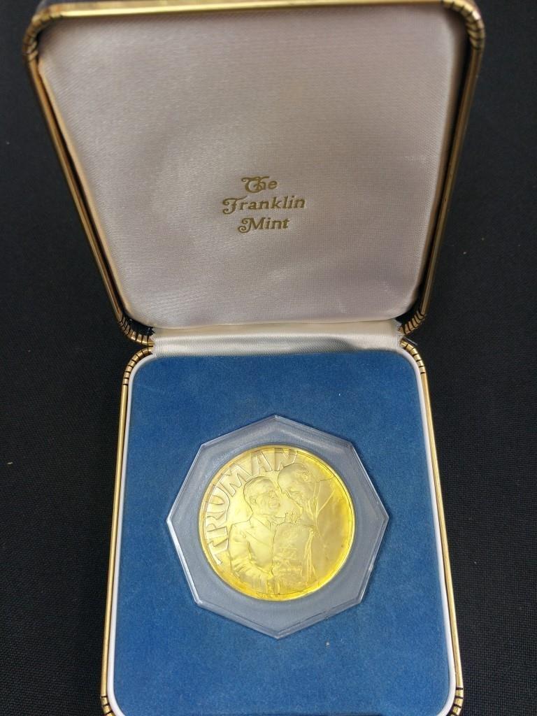 18k Gold Medal - Truman and Weizmann, USA 1973 - 3