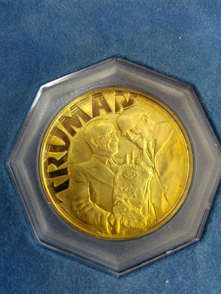 18k Gold Medal - Truman and Weizmann, USA 1973 - 4