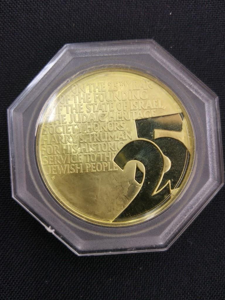 18k Gold Medal - Truman and Weizmann, USA 1973 - 5