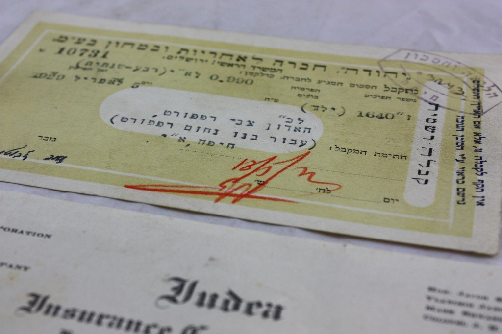Cheque signed by Ze'ev Jabotinsky from April 5 1929 on