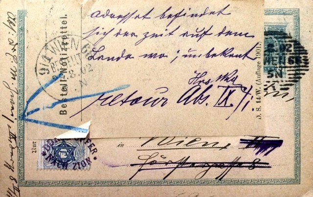 Postcard sent by mail with a Zion Postage Stamp of the
