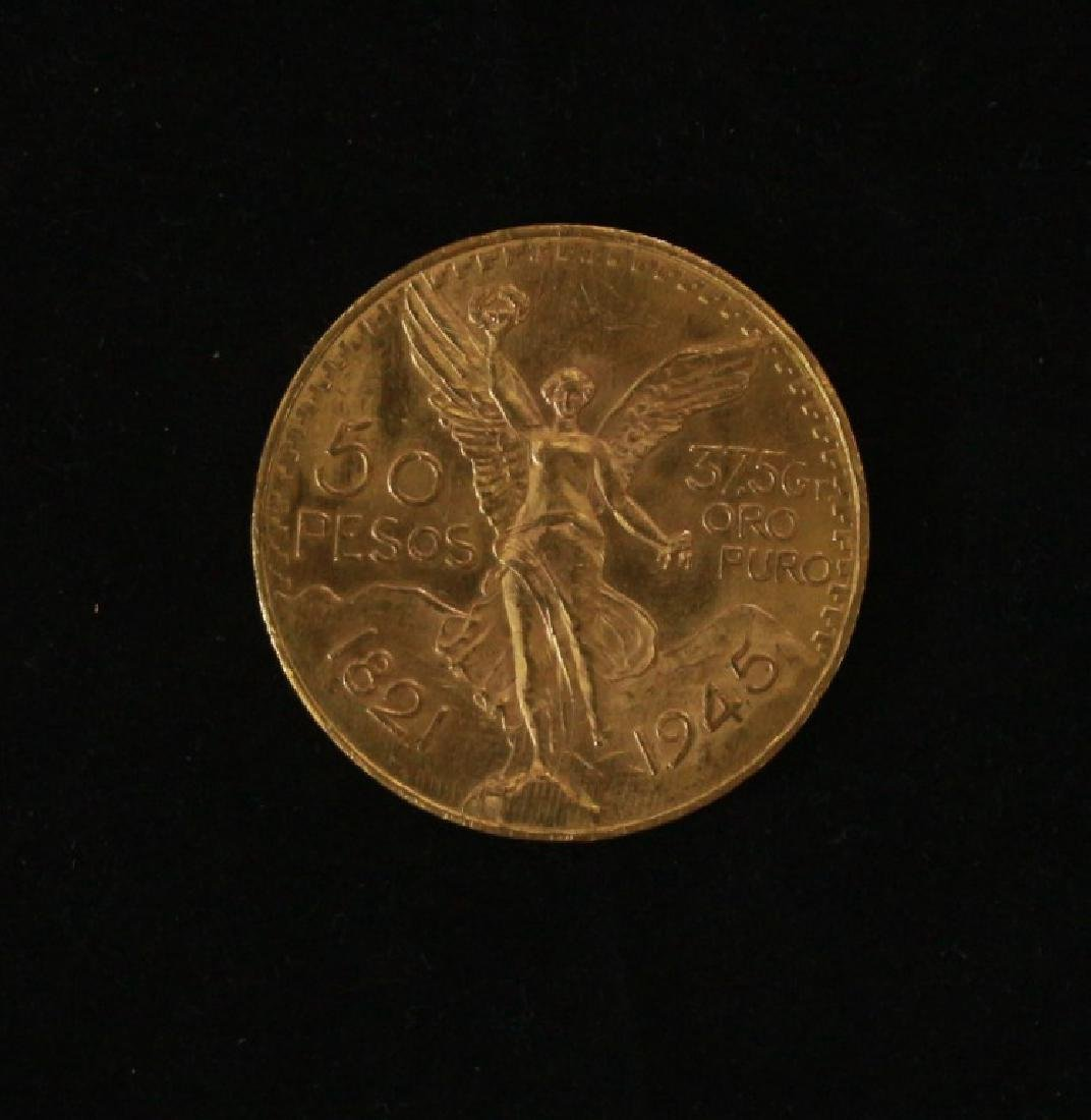 Golden Coin 50 Pesos - Mexico, 1945