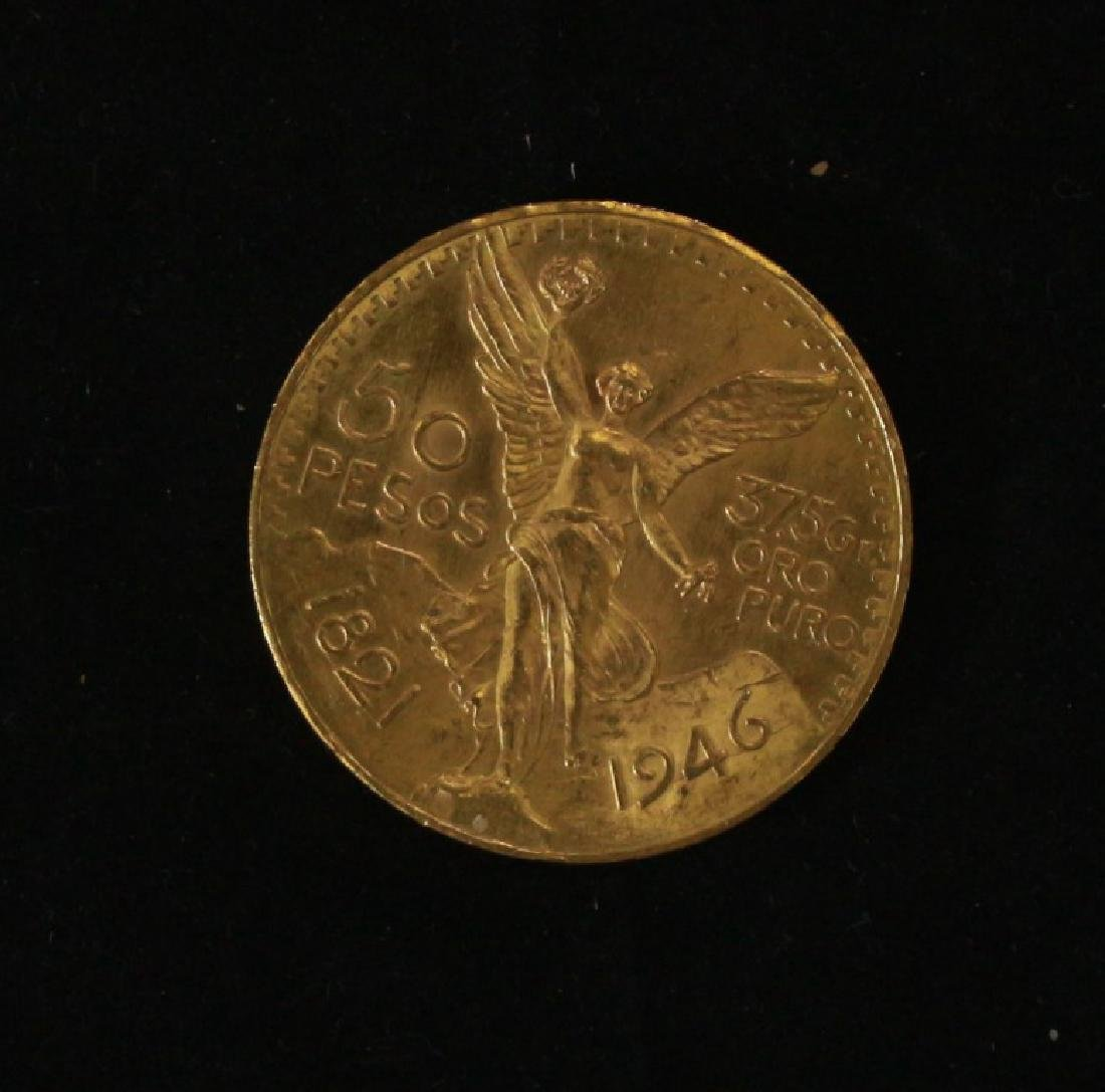 Golden Coin 50 Pesos - Mexico, 1946