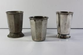 3 Kiddush Cups, with the Names of the Rivers of the