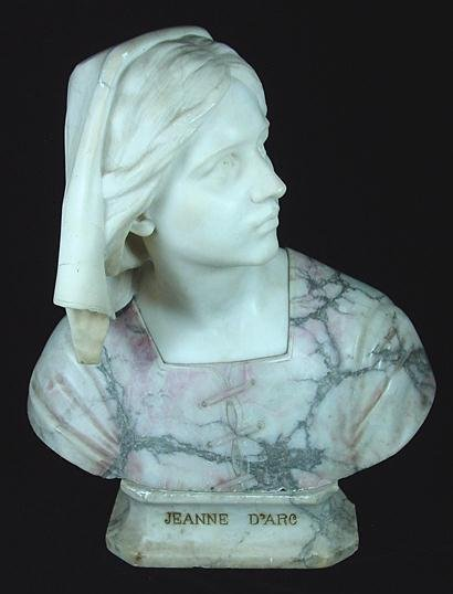 24: MARBLE BUST OF JEANNE D'ARC