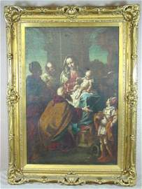 185: ADORATION OF THE MAGI  OIL ON CANVAS