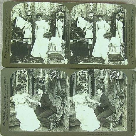 302: 2 BOXED SETS STEREO CARDS H.C. WHITE