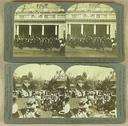 313: 82 STEREO CARDS 1904 WORLD'S FAIR