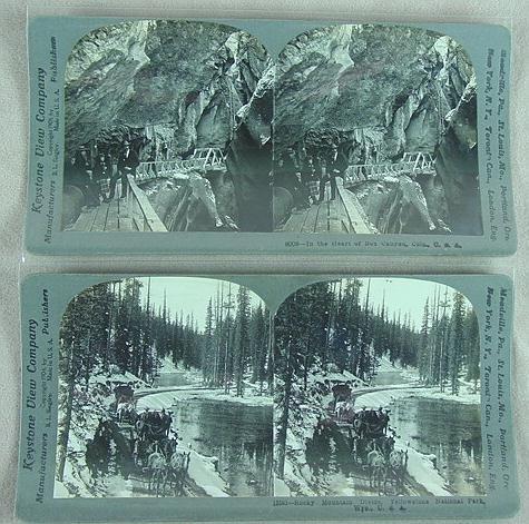 315: 29 STEREO CARDS KEYSTONE MIXED