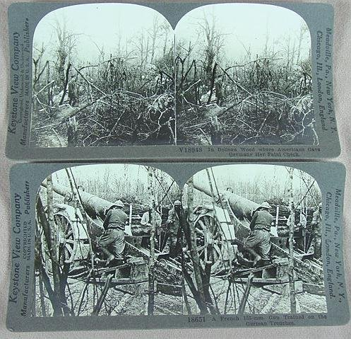 316: STEREO CARDS KEYSTONE BOXED SET WWI