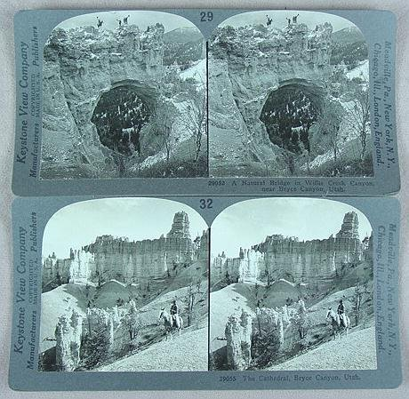 323: 2 DOUBLE BOXED STEREO CARD SETS KEYSTONE
