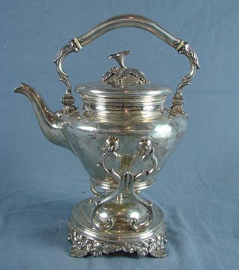 41: American Coin Silver Teapot