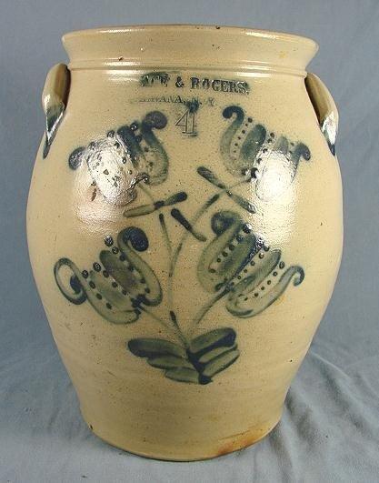 60: 4 Gallon Ovoid Stoneware Jar