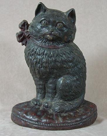 307: CAST IRON CAT DOORSTOP