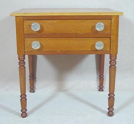 308: SHERATON CHERRY TWO DRAWER WORK TABLE