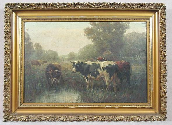 318: 19TH C. PAINTING BY GEORGE ARTHUR HAYS
