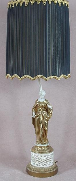 321A: FIGURAL BASE TABLE LAMP, LATE 19TH - EARLY 20TH