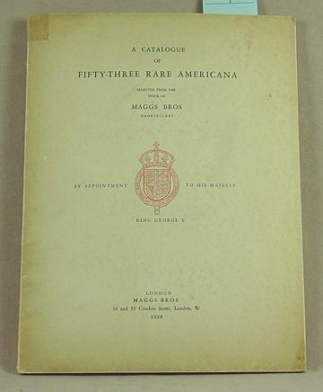 4: Catalogue of Fifty-Three Rare Americana