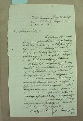 14: [Letter to Governor George Clinton 1783